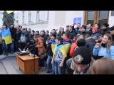Школьная линейка в киевской школе. Москалив на ножи.